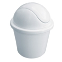 Picture of 1.5lt Swing Top Tidy Bullet Bin White Plastic -BINS386000- (EA)