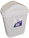 Picture of 10lt Swing Top Tidy Bin White Plastic-BINS386080- (EA)