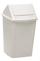 Picture of 18lt Swing Top Tidy Bin White Plastic-BINS386110- (EA)
