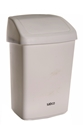 Picture of 25lt Swing Top Tidy Bin White Plastic-BINS386150- (EA)