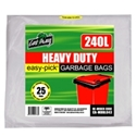 Picture of Wheelie Bin Liner NATURAL 240L Garbage Bags-GARB025830- (CTN-200)
