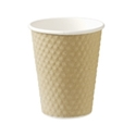 Picture of Brown 8oz Dimple Coffee Cups-HCUP108000- (SLV-25)