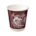 Picture of Double Wall 8oz café montmartre print Coffee Cup-HCUP108419- (SLV-25)