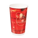 """Picture of Double Wall 16oz """"Café Verve"""" print Coffee Cup-HCUP108471- (SLV-20)"""