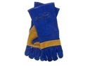 Picture of Blue and Gold Welding Gloves Reinforced Kevlar Stitch and Knuckle Bar-LGLV794375- (PR)