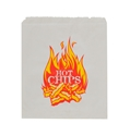 """Picture of Paper Bag Greaseproof 1 Flat """"Hot Chips"""" Print - 200mm  x 140mm-PAPB058700- (SLV-1000)"""