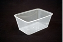 Picture of Rectangle 1000ml Plastic Container Genfac-PCON138850- (SLV-50)