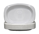 Picture of Plastic Plate White Oval 9x11 210x300 Extra Strong-PLAT090750- (SLV-50)