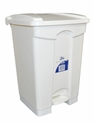 Picture of 68lt White Plastic Pedal Bin-BINS386260- (EA)