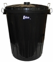 Picture of Garbage Bin Black & Lid 55LT Plastic -BINS386295- (EA)