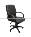 Picture of Executive Chair -Single Point Tilt Lock  - Medium Back - Black Seat, Arms and Base-FURN358724- (EA)