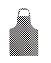Picture of Apron - Butchers / Kitchen / Cafe Black Check 710mm(L) x 970mm(W)-APPR493932- (EA)