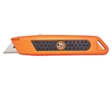 Picture of Auto-Retracting Safety Knife-Metal Orange with rubber grip-takes trimming blades-KNIV732444- (EA)