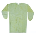 Picture of Gown Polypropylene Isolation Yellow  - One size fits Most-APPR495230- (CTN-100)