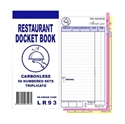 "Picture of Restaurant Docket Books Triplicate 93mm x 196mm with seperate """"Drinks"""" section 50's""-DKTB338401- (CTN-100)"