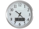 Picture of Analogue Clock 35cm with Date and Temperature LCD Screen-STAT342420- (EA)
