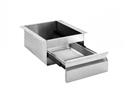 Picture of Stainless Steel Drawer 450mmw x450d x675h -3 x 125d drawer-locks-FURN358300- (EA)