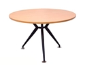 Picture of 900mm Round Timber Table Top With Black Steel Base-FURN358489- (EA)