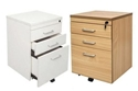 Picture of Mobile Pedestal - 3 Lockable Drawers - 690 High x 465 Wide x 447mm Deep  - Executive Span Range-FURN359511- (EA)
