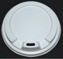 """Picture of White Sipper Lid to suit 8oz """"Beta Grip"""" Coffee Cups -CLID113546- (CTN-500)"""