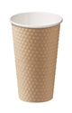 Picture of Brown 16oz Dimple Coffee Cups 490ml-HCUP108350- (SLV-20)