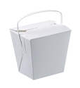 Picture of Food Pail / Noodle Box White Cardboard with Handle 8oz 80mm x 62mm x 65mm-SNAK153509- (SLV-25)
