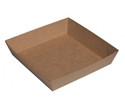 Picture of Cardboard Food tray No. 2 Kraft Board - 178mm x 178mm Base Dimensions x 40mm High-TRAY164976- (CTN-240)