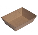 Picture of Cardboard Food tray No.1 Kraft Board - 130mm x 90mm Base Dimensions x 48mm High-TRAY164977- (CTN-500)