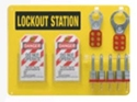 Picture of Safety Lockout Station - 5 Lock - Includes Locks, Tags & Hasps-MSAF870120- (EA)