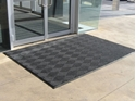 Picture of Micah Premier Entrance Matting -Cleated Back- in Blacksmoke Fully Edged 900 x 1200mm-MATT359204- (EA)