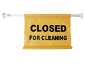 "Picture of Extendable Hanging Sign For Doorways ""Closed for Cleaning""-CLEA384560- (EA)"