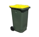 Picture of 360 Litre Wheelie Bin Green With (Select Colour) Lid-BINS386575- (EA)