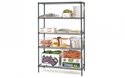 Picture of Shelving - 1200mm L x 1800mm H x 455mm D - Wire epoxy coated c/w 4 adjustable Shelves-FURN358459- (EA)
