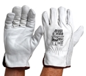 Picture of Riggers Gloves - Super Premium Cowgrain Leather - Industrial Heavy Duty - LARGE-LGLV794444- (PK-12PR)