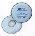 Picture of 3M 2128 Respirator Particle Nuis Ov/AG GP2 Filters to suit 6000 Series -Round-fits directly to mask-RESP823830- (PR)