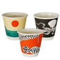 Picture of 8oz Biodegradable Double Wall Coffee Cup - Gallery Series (Mixed Print Selection)-BIOD076240- (SLV-25)