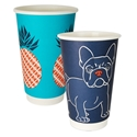 Picture of 16oz Biodegradable Double Wall Coffee Cup - Gallery Series (Mixed Print Selection)-BIOD076244- (SLV-25)