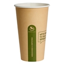 Picture of 16oz Biodegradable Single Wall Kraft Coffee Cup-BIOD076204- (CTN-1000)