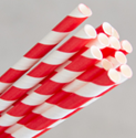 Picture of Straws Paper - Regular Size - Red and White Swirl-STRW177670- (CTN-2500)