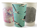 Picture of 12oz Biodegradable Double Wall Coffee Cup - Art Series (Mixed Print Selection)-BIOD076255- (CTN-1000)