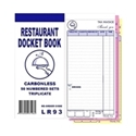 "Picture of Restaurant Docket Books Triplicate 93mm x 196mm with seperate """"Drinks"""" section 50's""-DKTB338401- (SLV-10)"