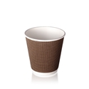 Picture of 8oz Ripple Wall Brown Check Design Coffee Cup-HCUP109928- (CTN-500)